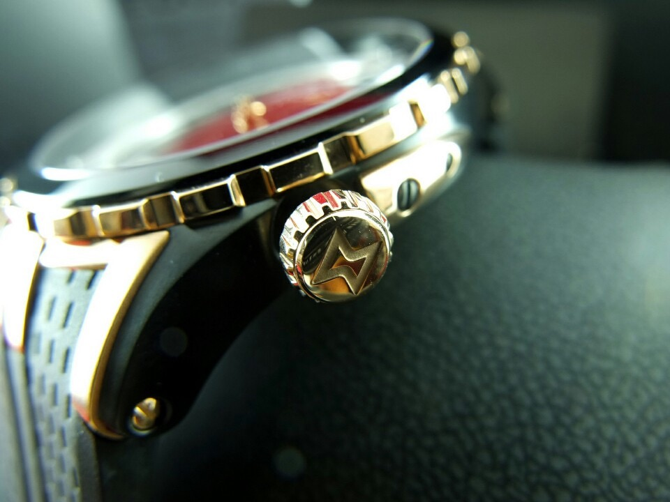 Edox Grand Ocean Automatic rose gold PVD rubber straps