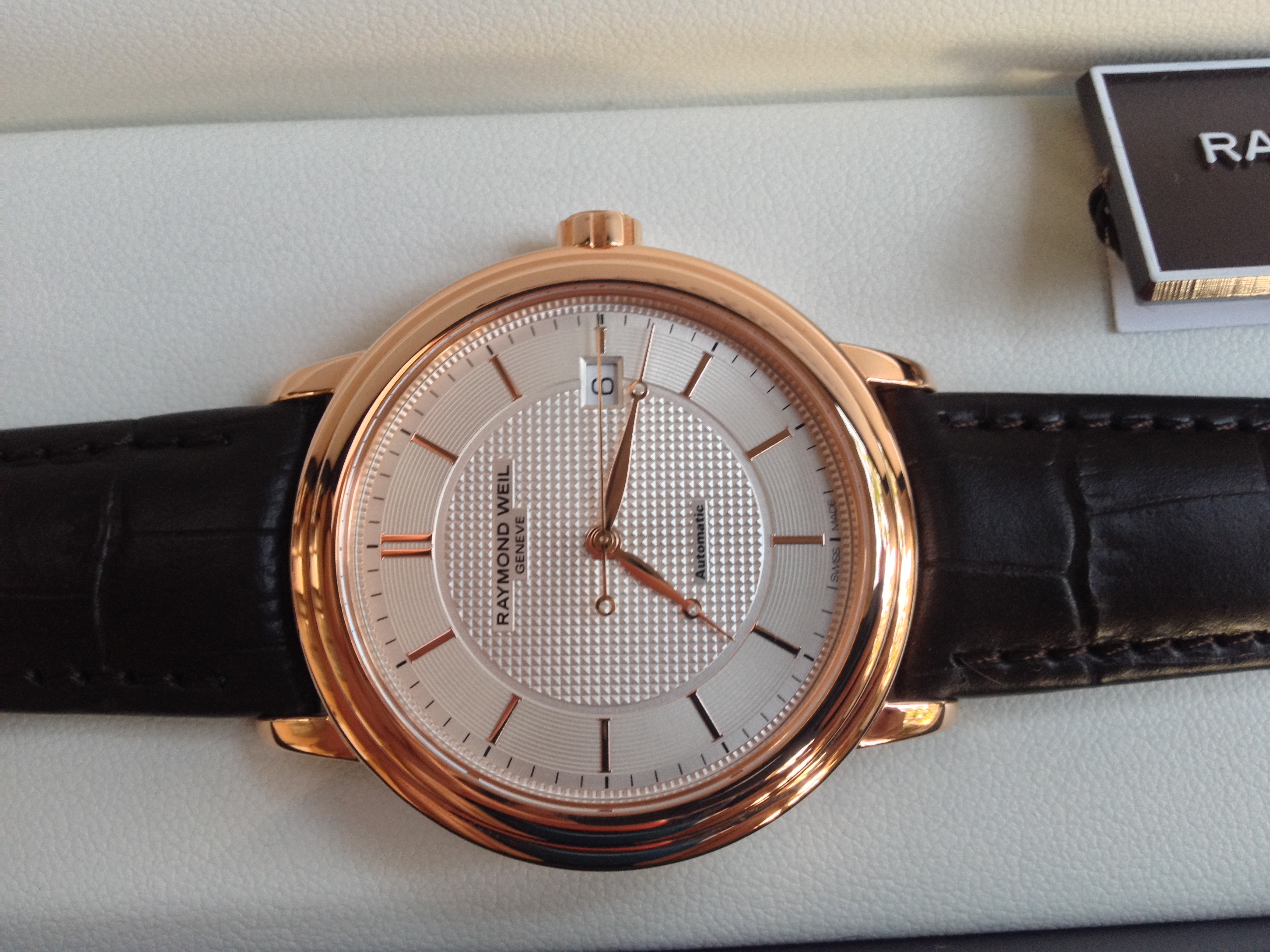 Raymond Weil Maestro automatic Rose Gold